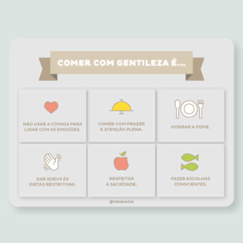 Ímã de Geladeira - Comer com Gentileza (10 un)