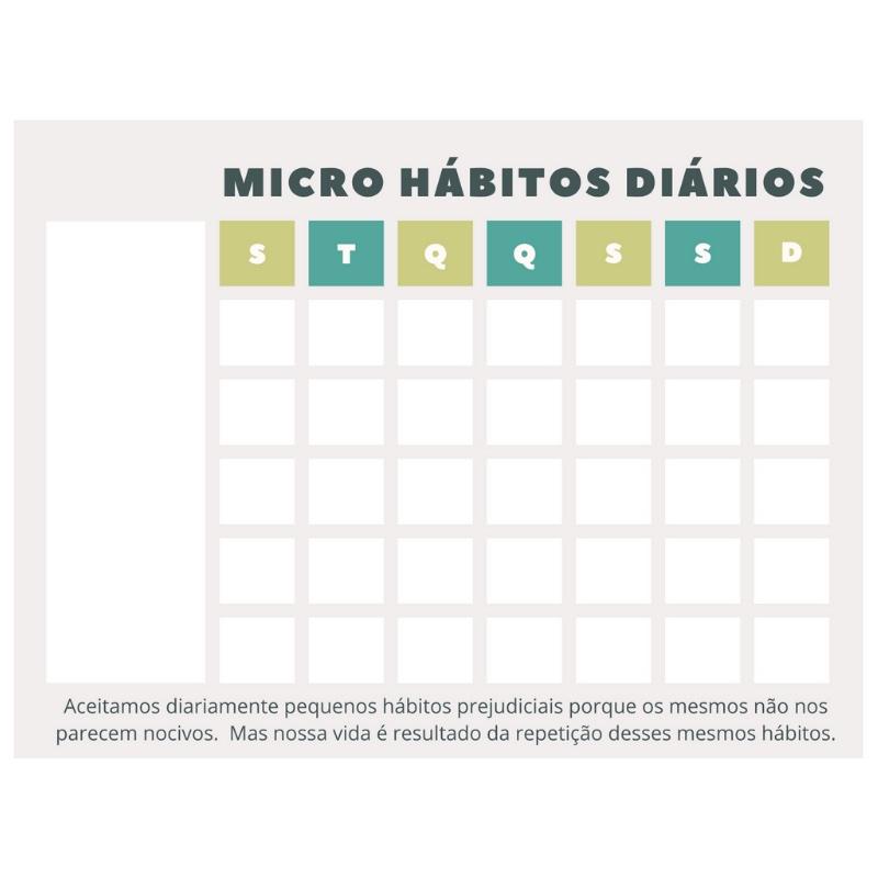 Ímã de Geladeira - Micro Hábitos Green
