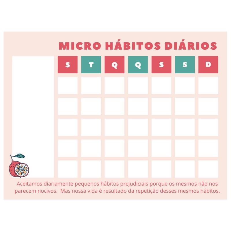 Ímã de Geladeira - Micro Hábitos Rosê