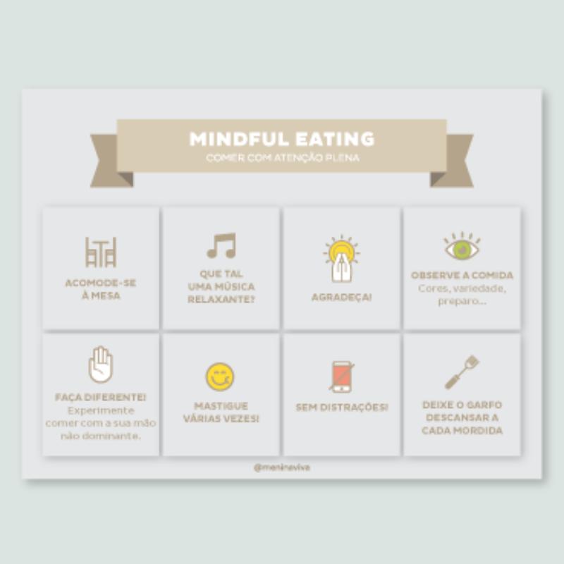 Ímã de geladeira - Mindful Eating (10 un)