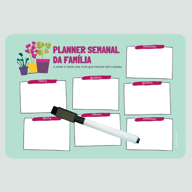 Ímã de Geladeira - Planner Semanal da Família