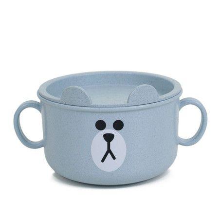 Kit Azul Prato Infantil Sustentável