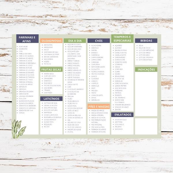 Lista de Compras Alimentos Saudáveis - Coleção FENDI