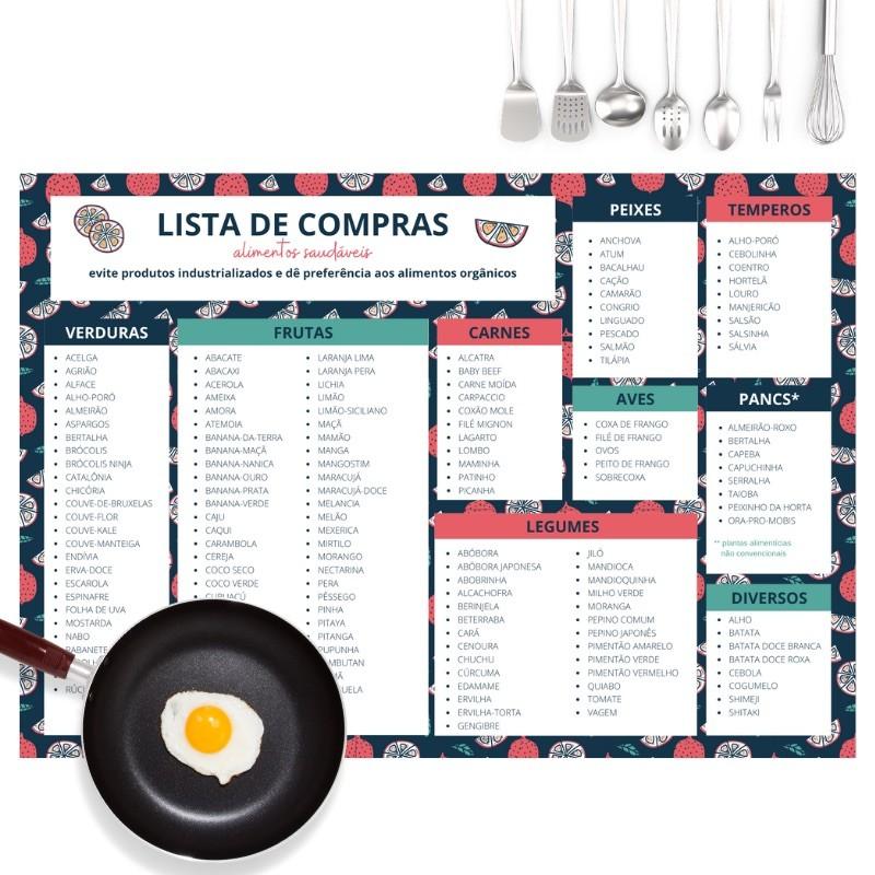 Lista de Compras Alimentos Saudáveis - Coleção Nutrindo o que Faz Bem