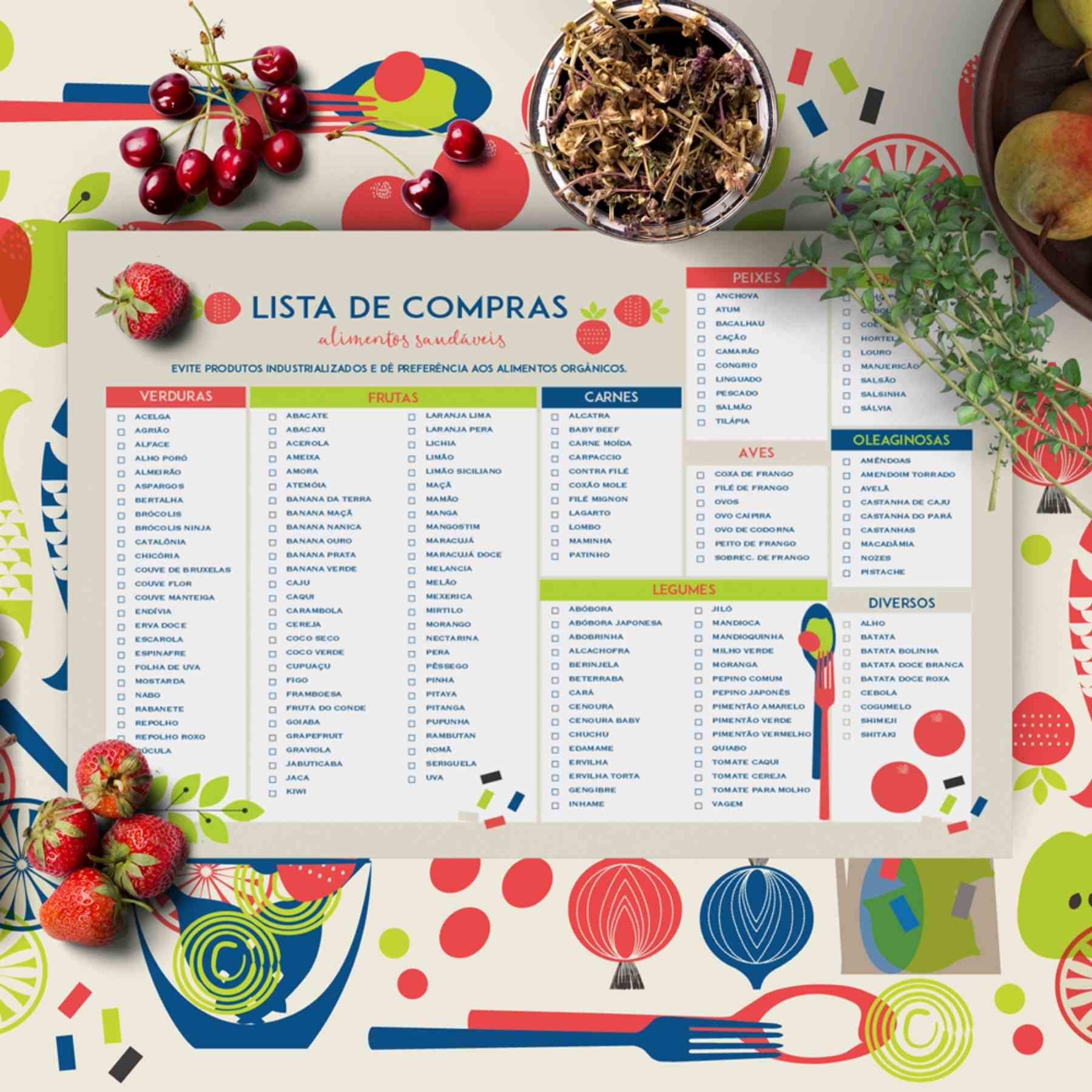 Lista de Compras Saudável - Comer é uma Arte