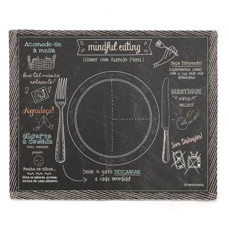 Mindful Eating  Black - 01 Lâmina Plastificada