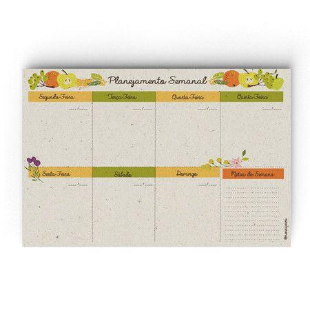 Planejamento Semanal e Mensal - Vida Saudável