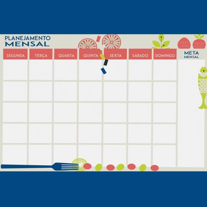 Planejamento Semanal e Mensal - Comer é uma Arte