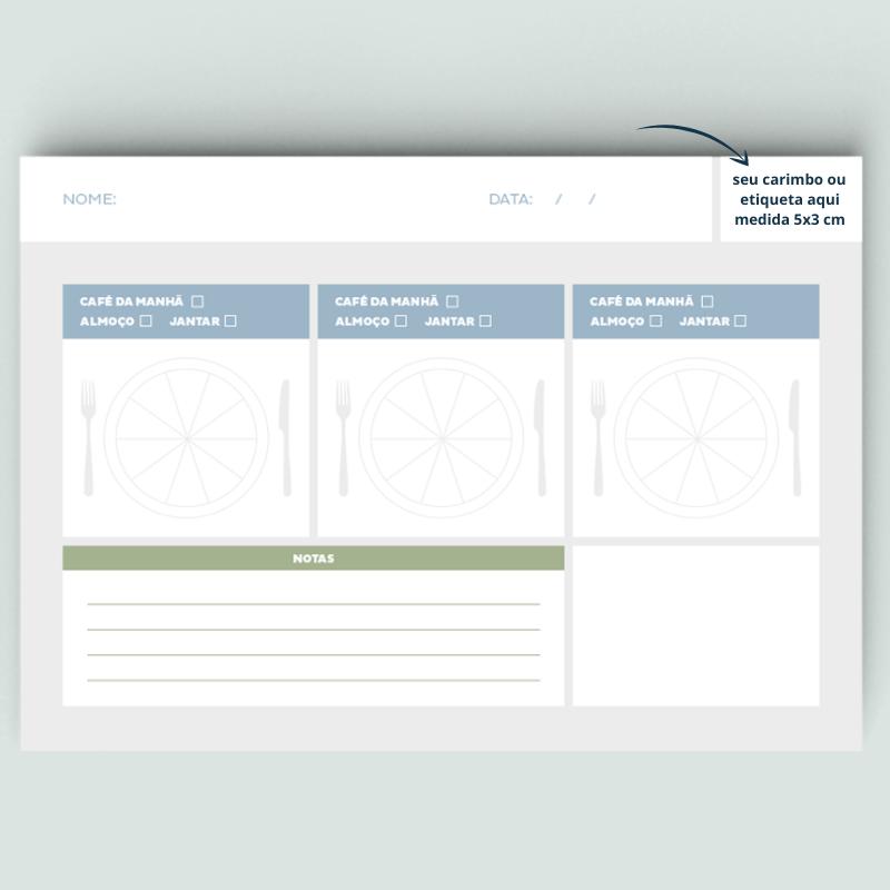 Prato modelo - Linha Consultório