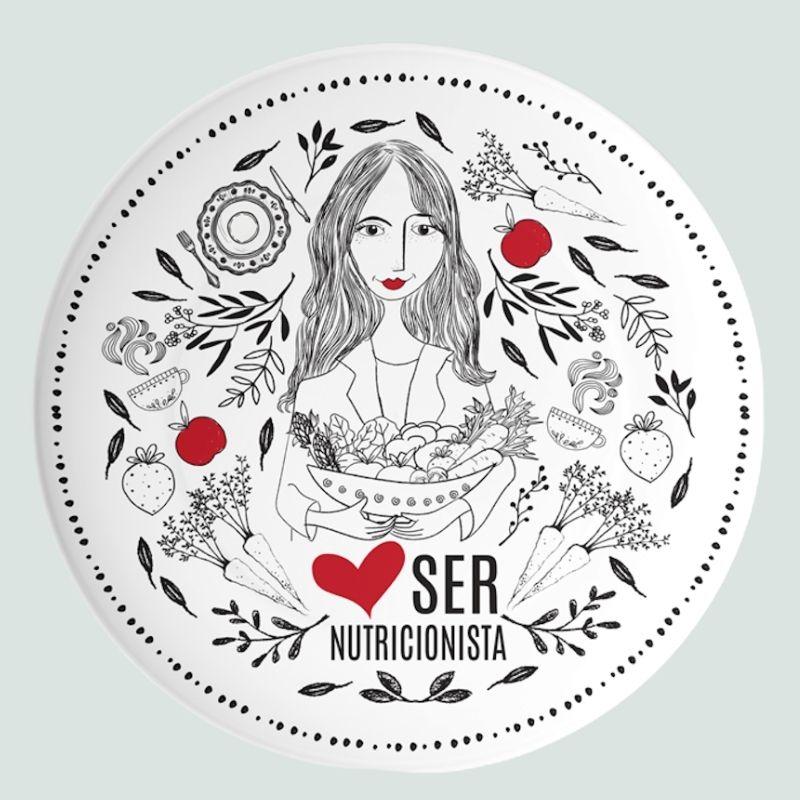 Prato Porcelana - Amo ser Nutricionista