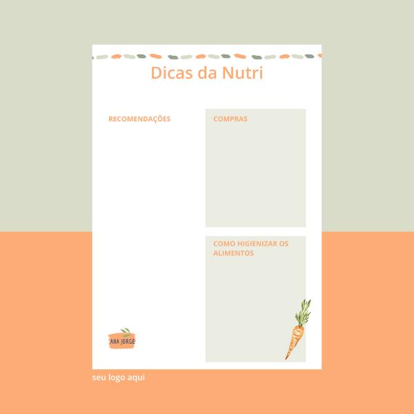Versão Digital (PDF E WORD) - Dicas da Nutri