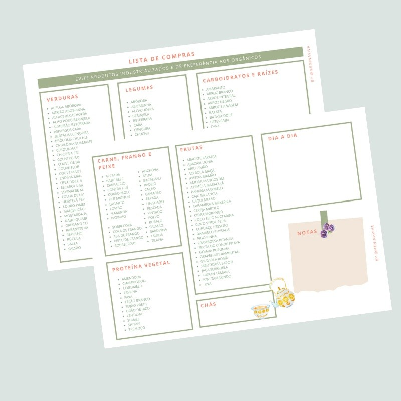Versão Digital (PDF e Word) - Lista de Compras