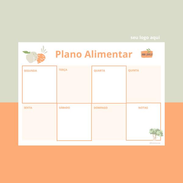 Versão Digital (PDF E WORD) - Plano Alimentar