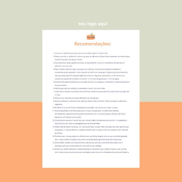 Versão Digital (PDF) - Meu Primeiro Pratinho