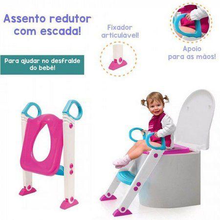 ASSENTO REDUTOR COM ESCADA BUBA - Rosa