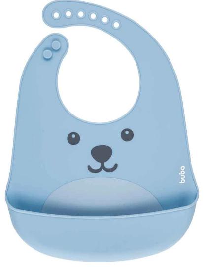 Babador de Silicone com bolso Gumy Buba - Azul
