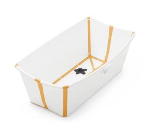 Banheira Flexível Amarela com Plug Térmico Stokke