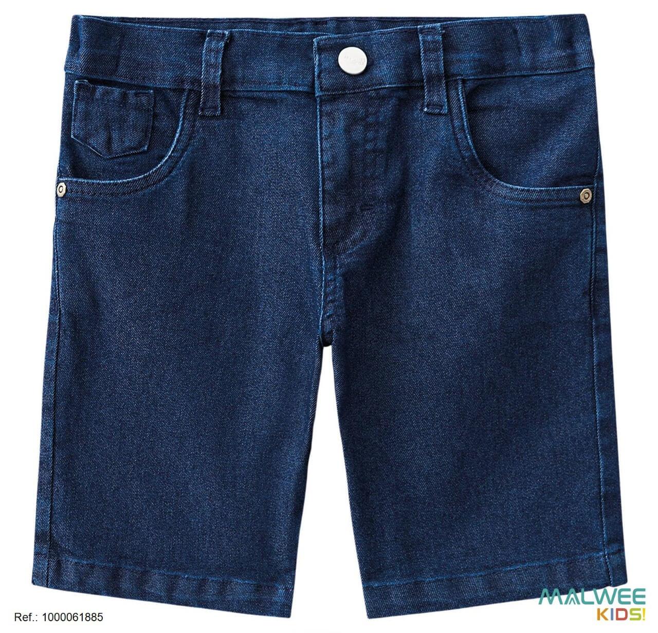 Bermuda Jeans com Elastano Malwee