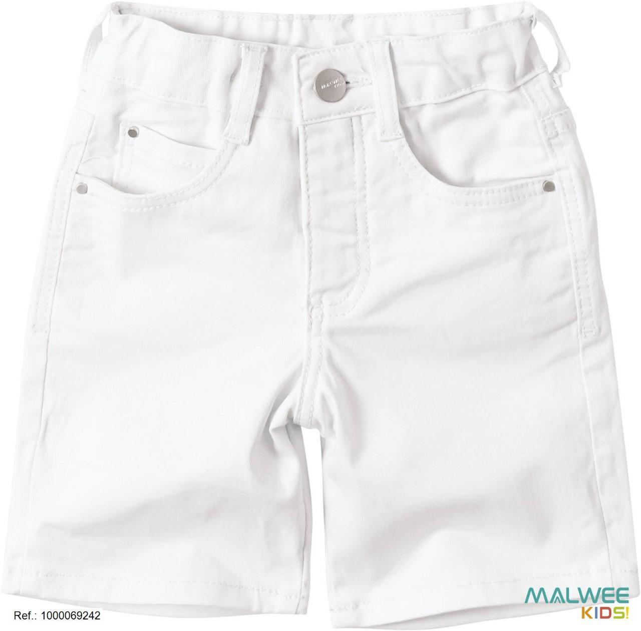 Bermuda Jeans com Elastano Malwee Branca