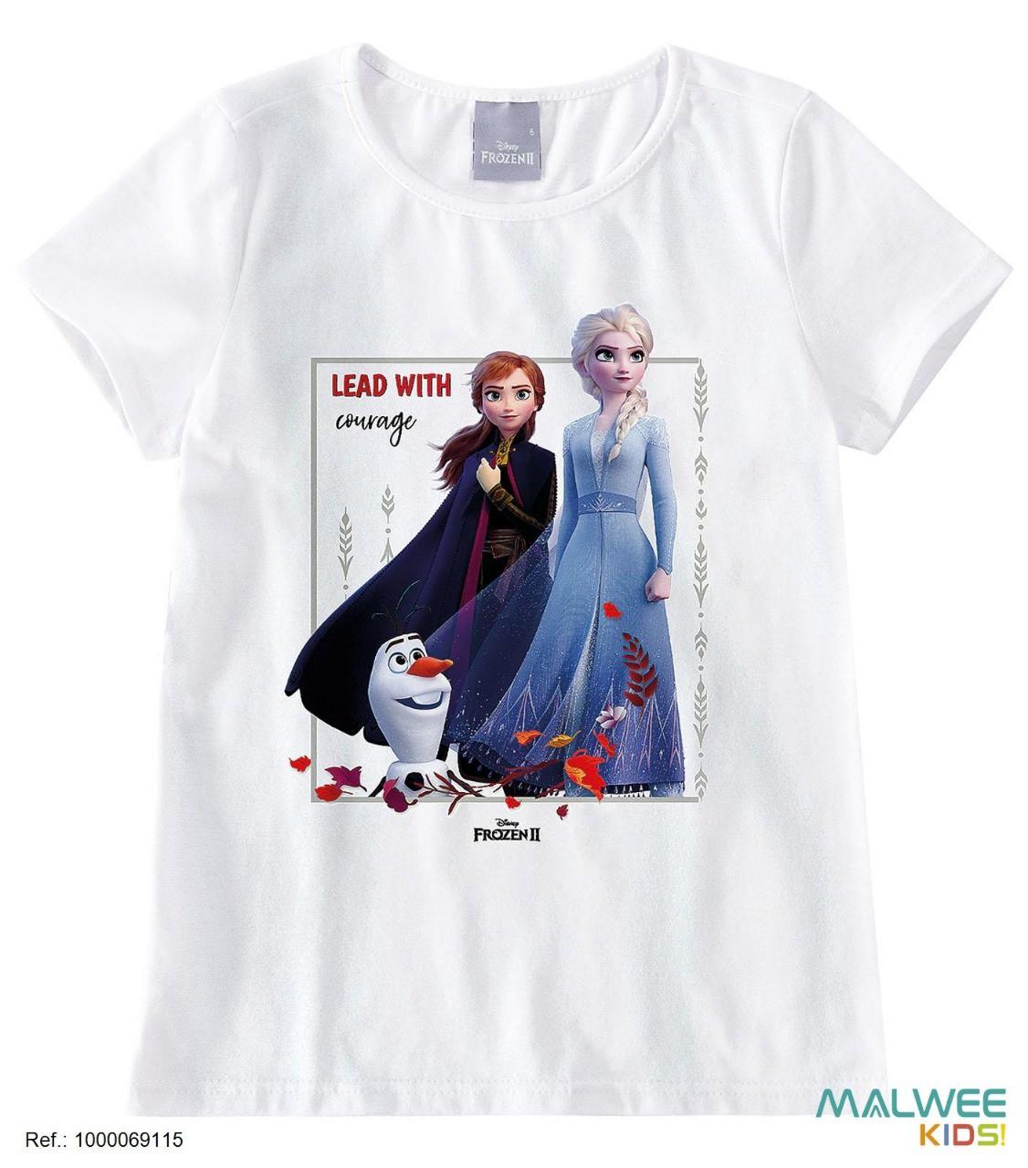 Blusa Algodão Disney Frozen II - Anna e Elsa