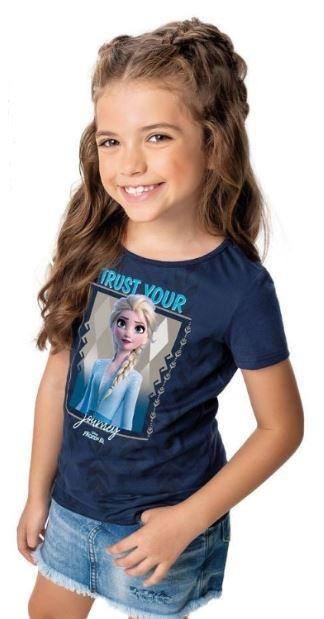 Blusa Algodão Disney Frozen II - Elsa