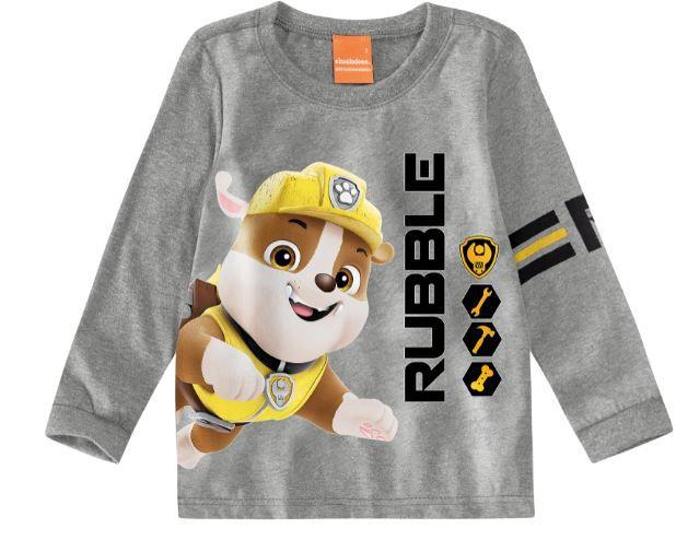 Blusa Algodão não peluciado Patrulha Canina - Rubble