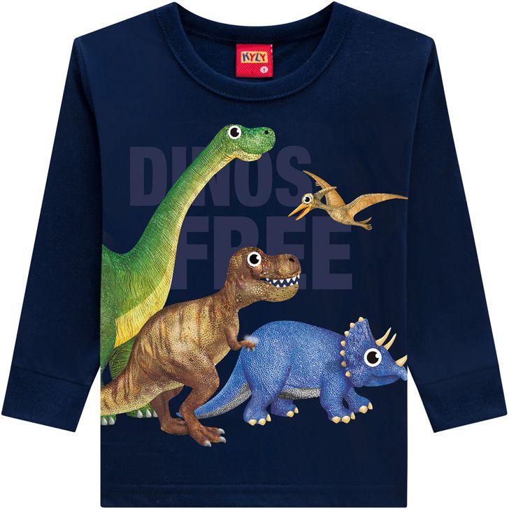 Blusa Dinossauros Algodão não peluciado KYLY