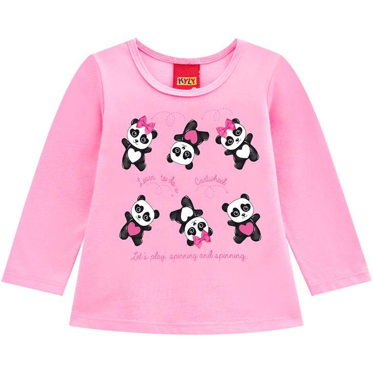 Blusa Pandas Algodão não peluciado KYLY