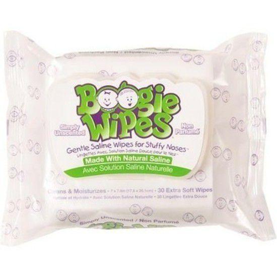 Boogie Wipes - Lenços Umedecidos com Soro Fisiológico com 30 unidades