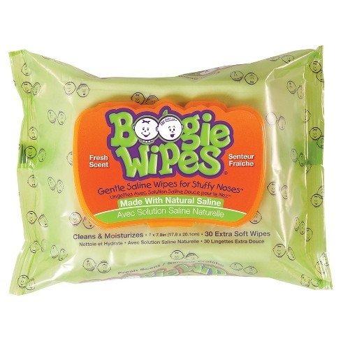 Boogie Wipes - Lenços Umedecidos com Soro Fisiológico com 30 unidades - Aloe Vera