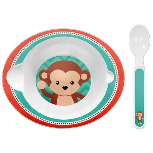 Bowl com colher Buba - Macaco