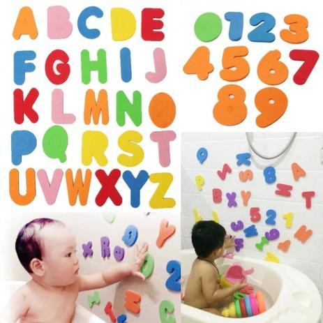 Brinquedo de banho - Letras e Números Buba