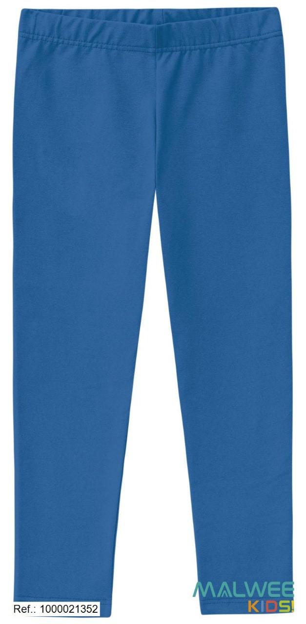 Calça Legging Algodão não peluciado Malwee - Azul