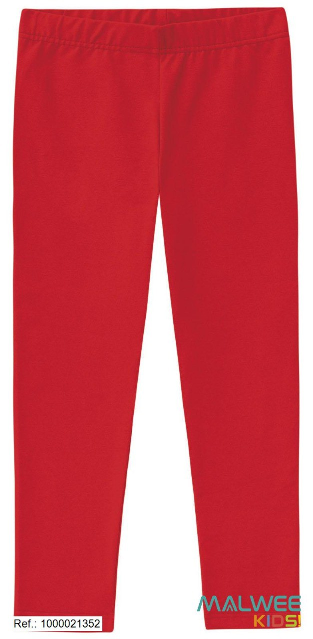 Calça Legging Algodão não peluciado Malwee - Vermelha