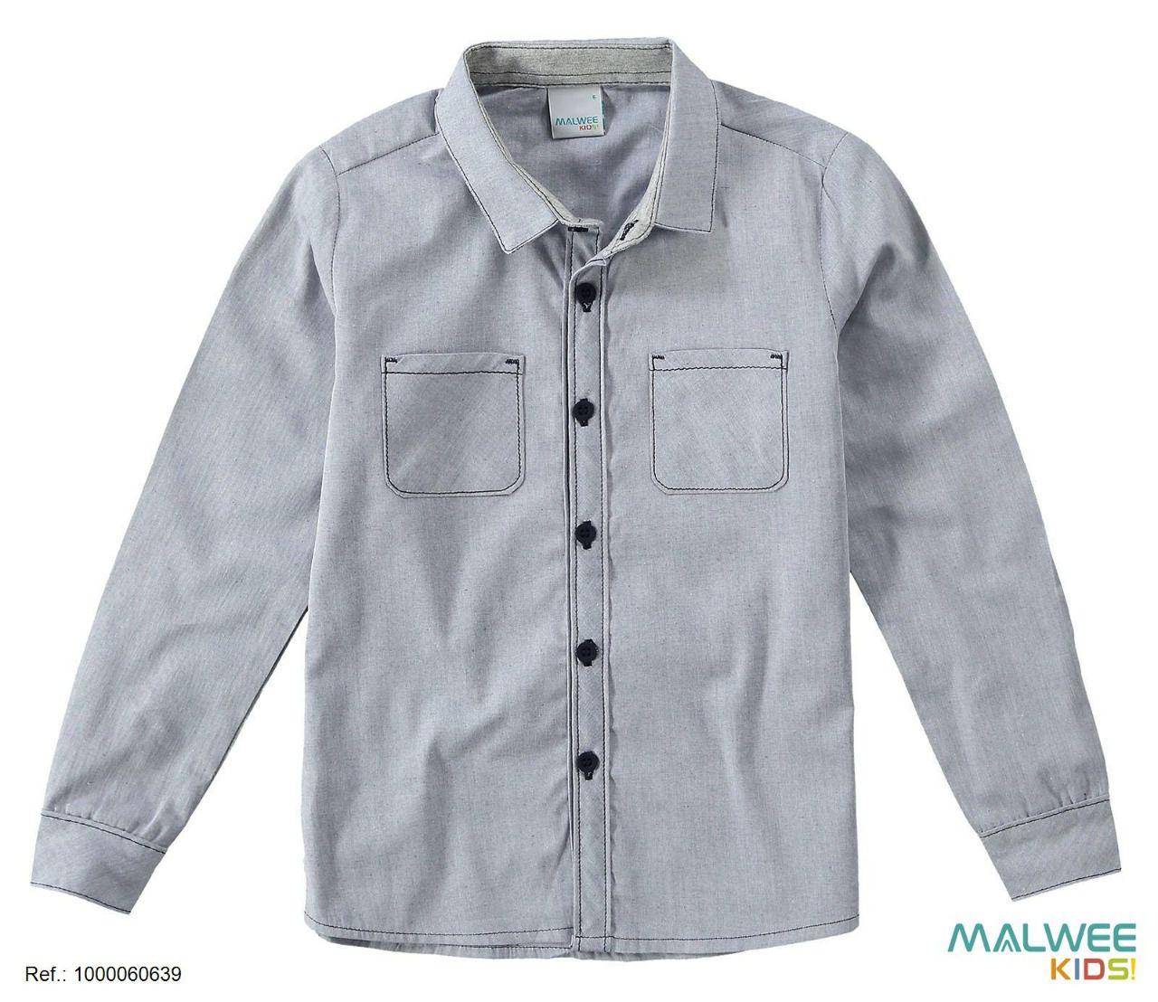 Camisa Social Malwee Cinza
