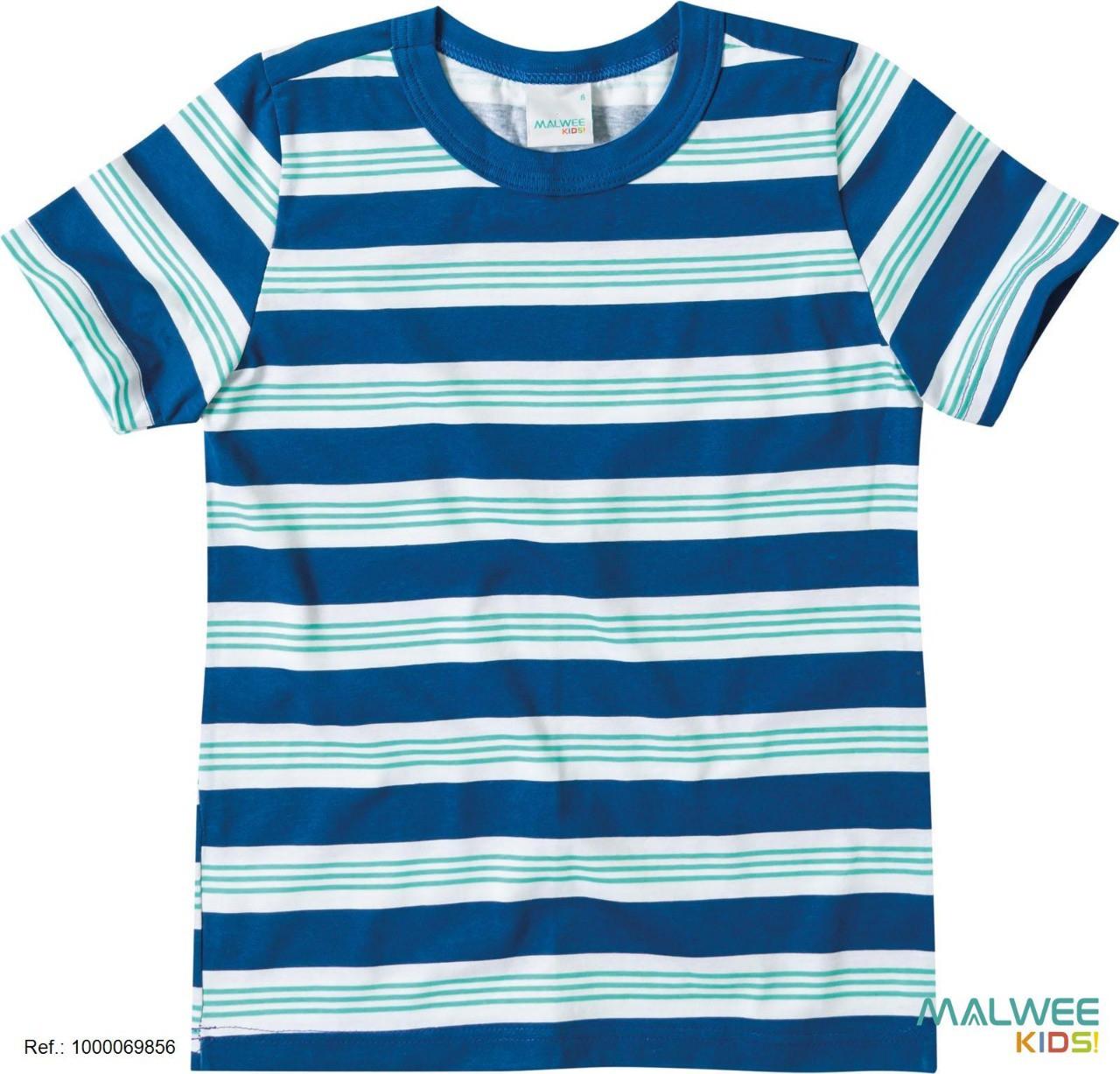 Camiseta Algodão Listrada Malwee
