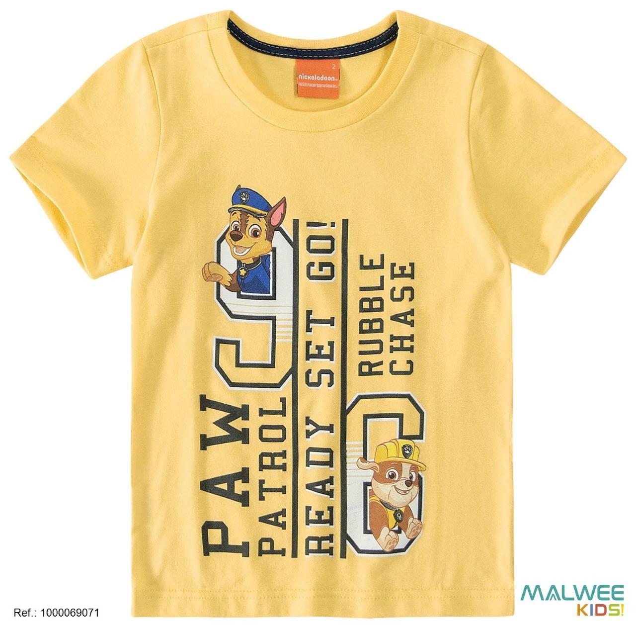 Camiseta Algodão Patrulha Canina - Rubble
