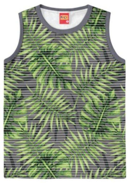 Camiseta Algodão KYLY - Folhas