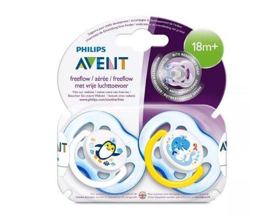 Chupeta Avent Freeflow - 18m+ - Kit com 2 unidades