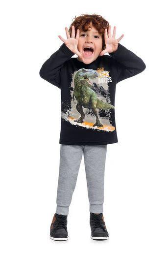 Conjunto Moletom e Calça Peluciados KYLY Dinossauro