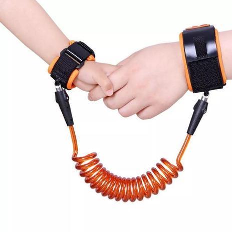 Cordão de segurança para pulso Clingo - Laranja