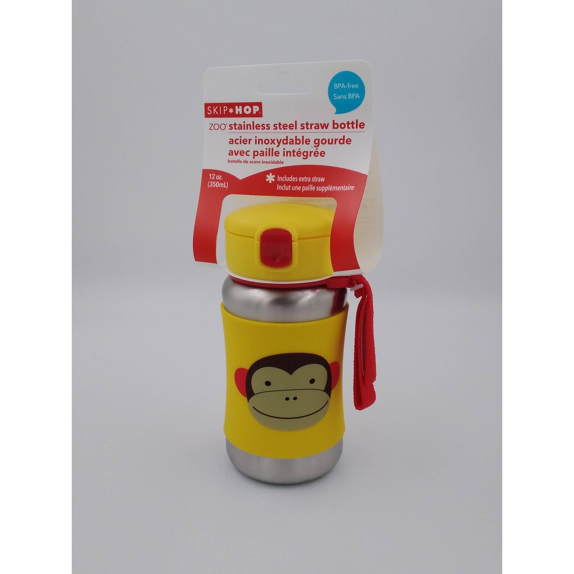 Garrafa em aço inoxidável Skip Hop - Macaco
