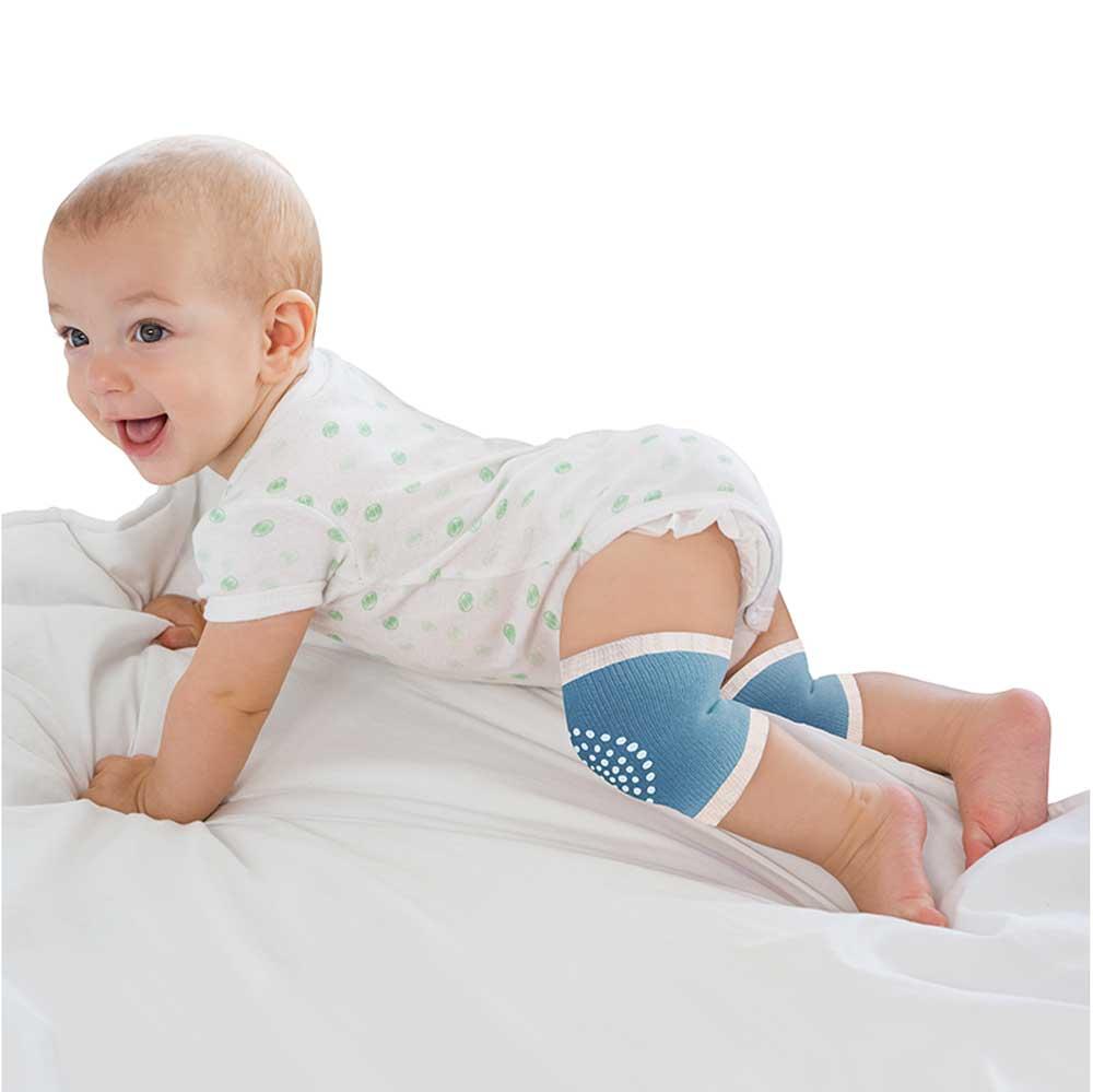 Joelheira Antiderrapante para Bebê Clingo - Azul