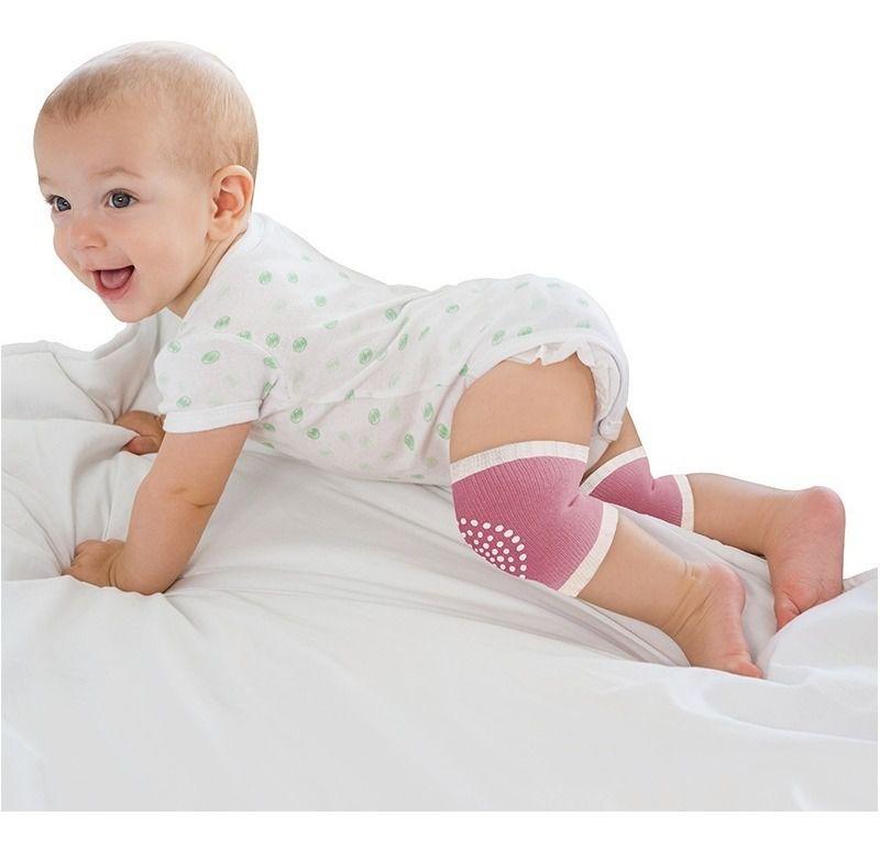 Joelheira Antiderrapante para Bebê Clingo - Rosa