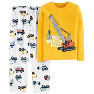 Pijama Fleece Caminhão de Construção