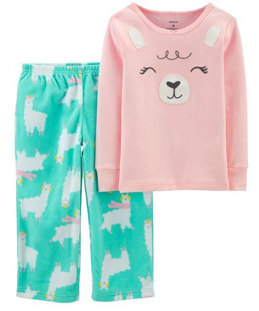 Pijama Fleece e Algodão Lhama Carter's