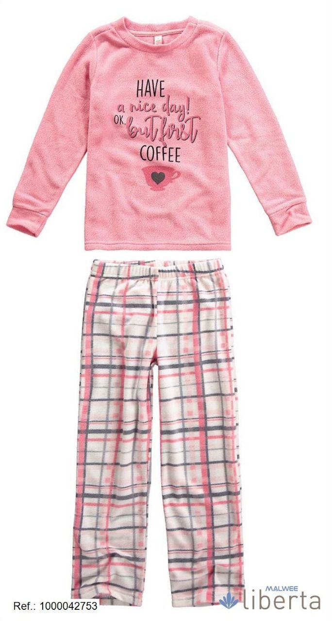 Pijama Fleece Malwee Liberta Have a Nice Day