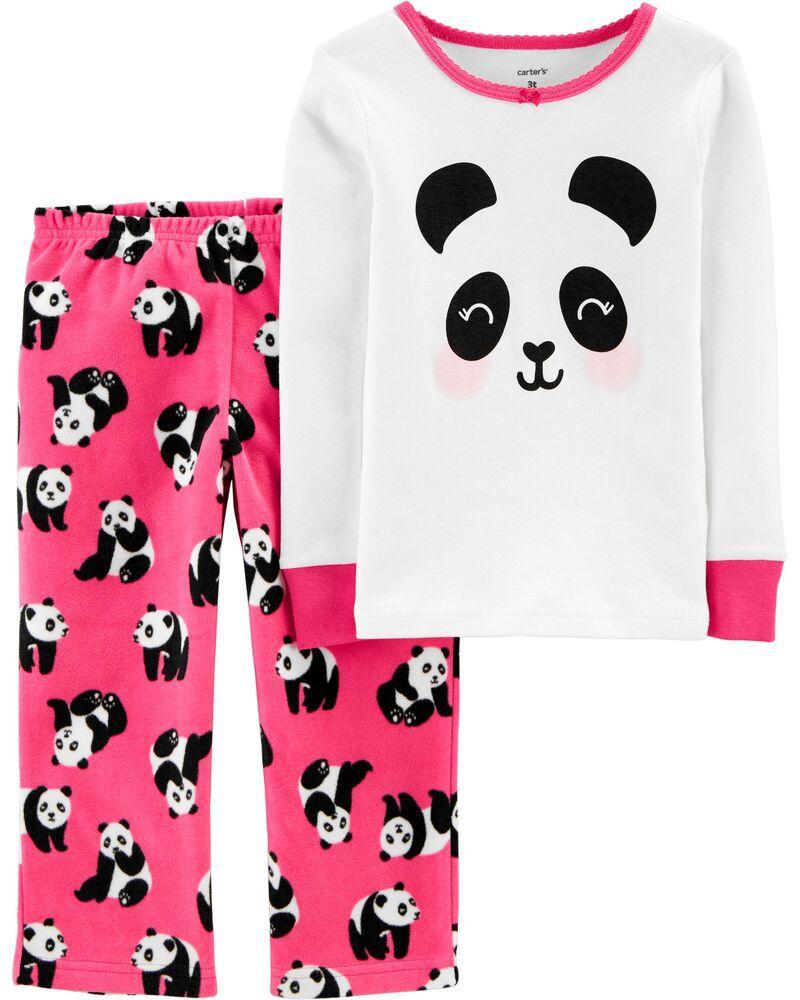 Pijama Fleece e Algodão Panda Carter's