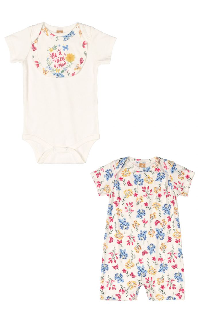 Kit 3 peças Algodão Up Baby Floral