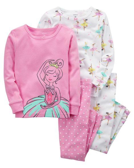 Kit 4 peças Carter's Pijama Algodão